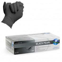 Black Pearl gants noirs en nitrile non poudrés non stériles