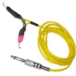 Clip cord Jack - Banana blug con molla yellow