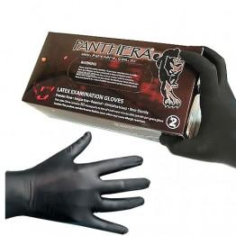 Panthera gants noirs en latex