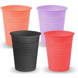 Plastique jetables verres colorés